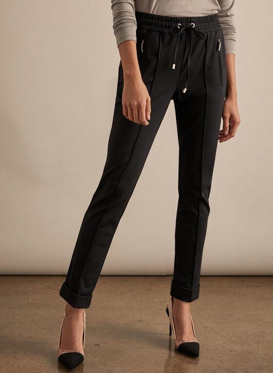 Drawstring Jogger Pants, Black
