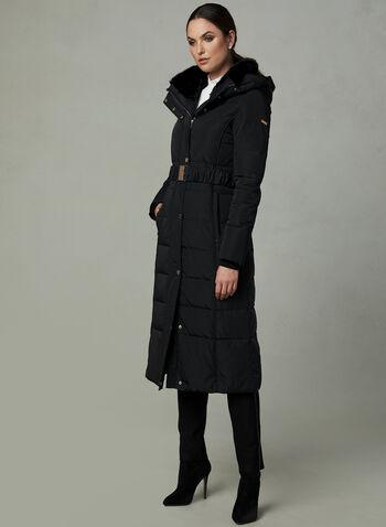 Novelti - Manteau matelassé avec ceinture, Noir,