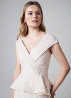 Terani Couture – Peplum Top Mermaid Dress, Pink, hi-res