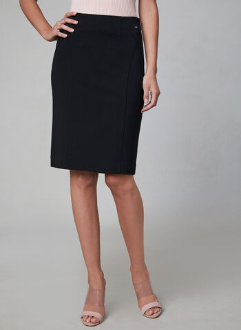 Madison Pencil Skirt, Black,  stretchy, straight cut, fall 2019, winter 2019