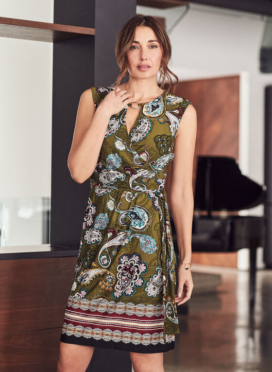 Sandra Darren - Robe à motif cachemire , Vert