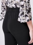 Straight Leg Drawstring Pants, Black, hi-res