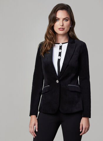 Velvet Blazer, Black,  holiday, blazer, velvet blazer, fall 2019, winter 2019