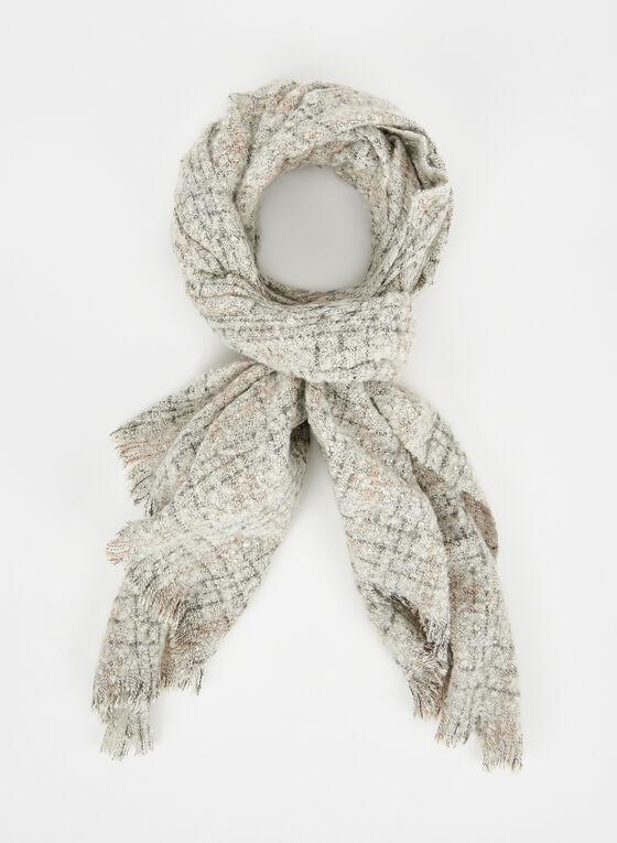 Foulard aspect laine bouclée , Blanc, hi-res