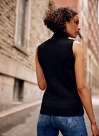Sleeveless Turtleneck Top, Black