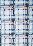 Foulard carré à carreaux, Bleu