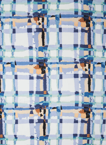 Plaid Print Scarf , Blue,  scarf, accessory, plaid print, plaid print scarf, spring 2020, summer 2020