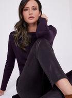 Mixed Stitch Tunic Sweater, Purple, hi-res