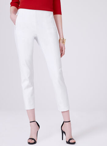 Amber Ankle Length Pants, White, hi-res