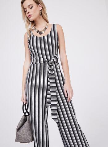 Karl Lagerfeld Paris - Belted Jumpsuit, Black, hi-res