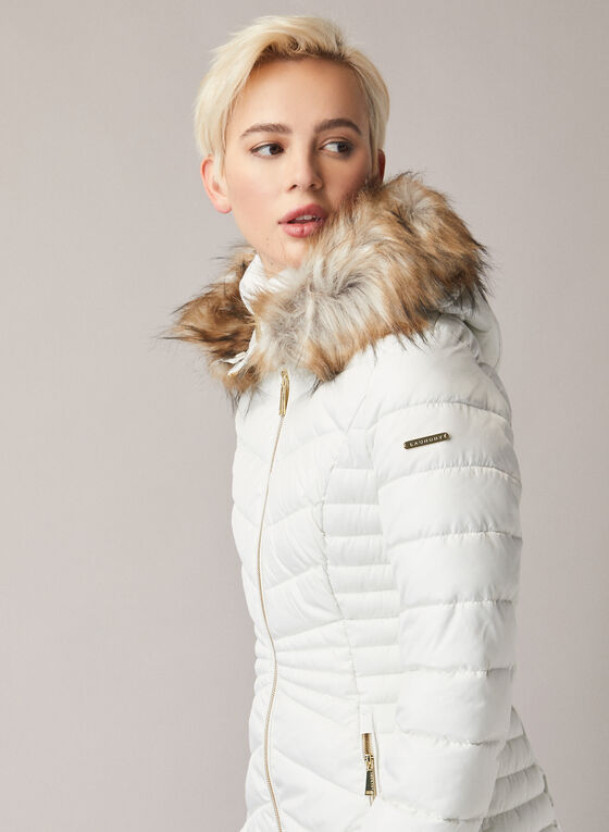 Laundry by Shelli Segal - Quilted Vegan Down Coat, Off White