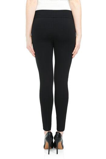 Pull-On Ponte Slim Leg Pants, Black, hi-res