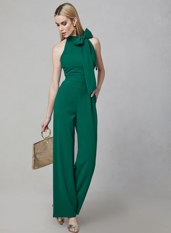 Vince Camuto - Bow Neck Jumpsuit, Green, hi-res