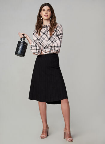 Midi A-Line Skirt, Black, hi-res,  knit, skirt, a-line, midi, medium, elastic, jersey, soft, midi skirt, a-line skirt, fall 2019, winter 2019
