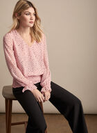 Chiffon Polka Dot Blouse, Multi