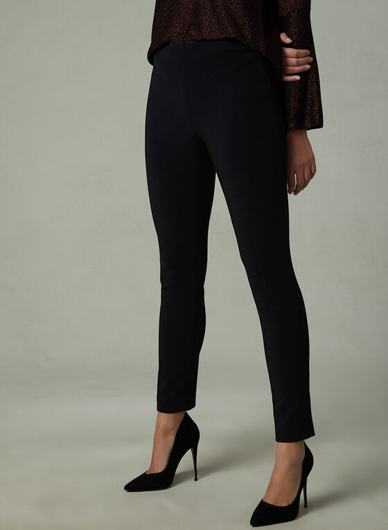 Elastic Waist Leggings, Black