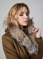 Sicily - Wool & Cashmere Blend Coat With Fur, Brown, hi-res
