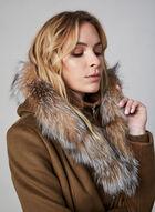 Sicily - Manteau en laine, cachemire et fourrure, Brun, hi-res