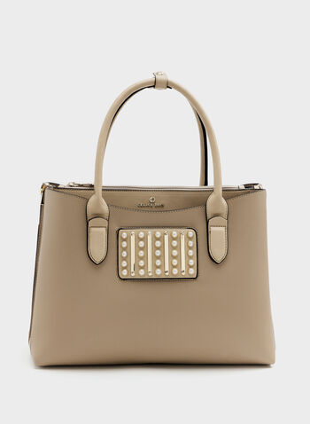 Céline Dion - Faux-Leather Satchel, Off White, hi-res