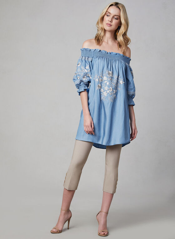 Linea Domani - Embroidered Off-the-Shoulder Top