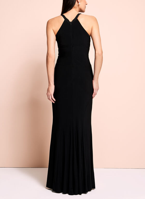 Emma Street Halter Neck Gown, Black, hi-res