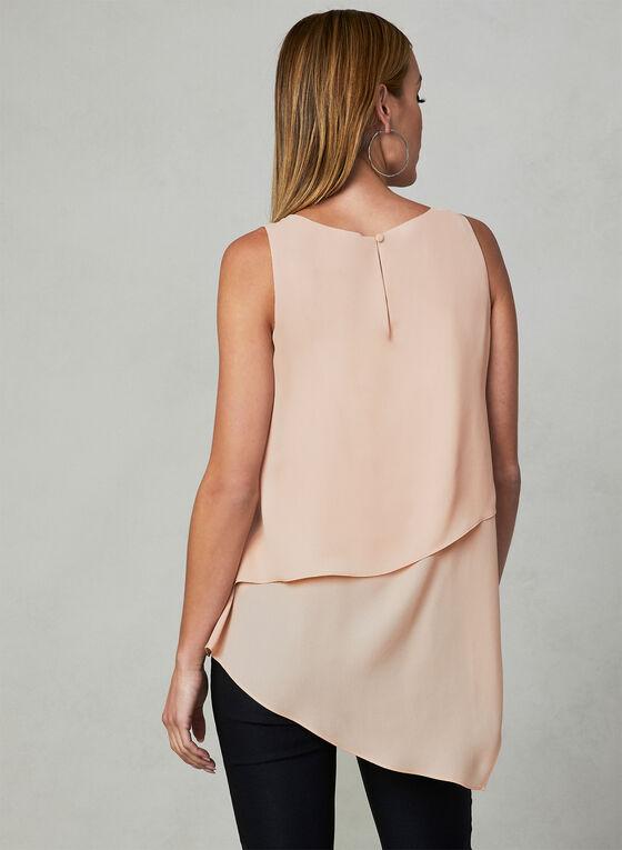 Asymmetrical Sleeveless Blouse, Pink, hi-res