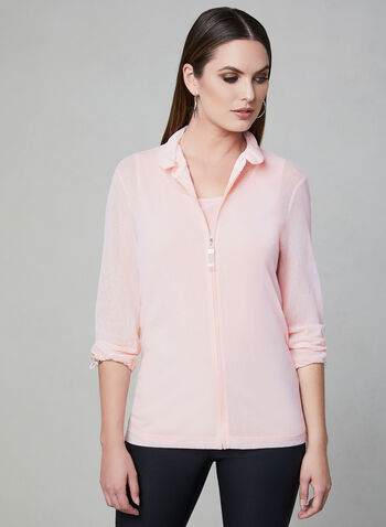 Frank Lyman - Zip Up Jacket & Camisole, Pink, hi-res