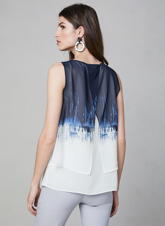 Ombré Sleeveless Top, Blue