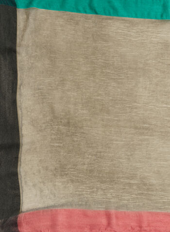 Colourblock Pashmina Wrap, Grey, hi-res