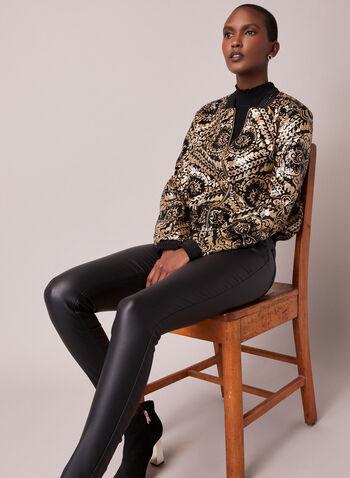 Sequin Embellished Bomber, Gold,  jacket, bomber, sequin, bead, fall winter 2020