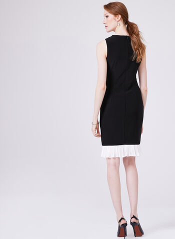 Frank Lyman – Sleeveless Pleated Hem Pencil Dress, Black, hi-res