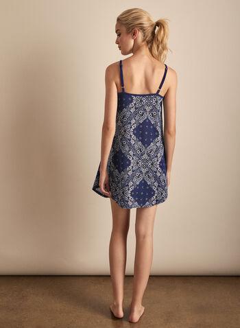 Claudel Lingerie - Chemise de nuit à bretelles, Bleu,  printemps été 2020, chemise de nuit, pyjama, Claudel Lingerie, bretelles, sans manches