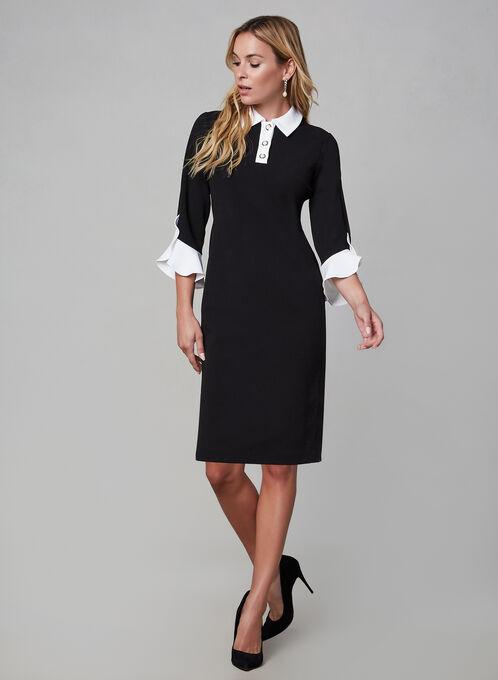 Karl Lagerfeld Paris - Ruffle Sleeve Dress, Black