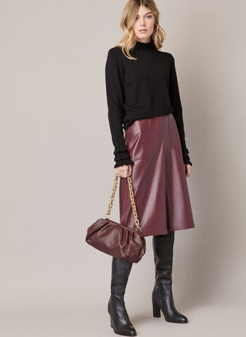 Vegan Leather Wide Leg Pants, Purple,  fall winter 2020, wide leg, pants, pockets, faux leather, vegan leather