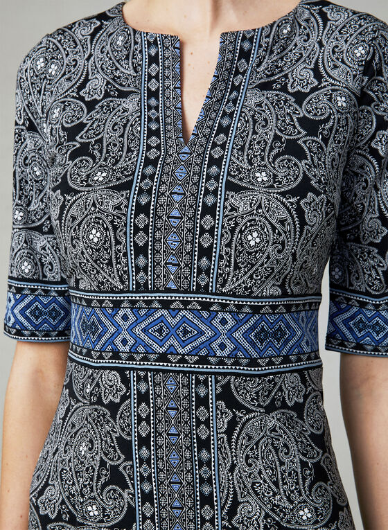 Maggy London - Paisley Print Dress, Black, hi-res