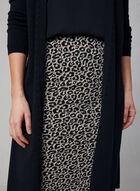 Jupe crayon pull-on à imprimé léopard, Noir, hi-res