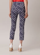 Chain Print Pull-On Capris, Blue
