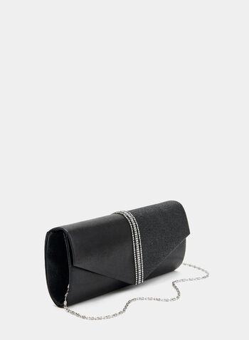 Pochette enveloppe métallisée , Noir, hi-res