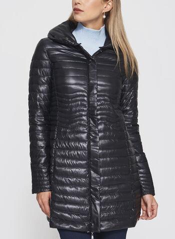 Nuage - Manteau matelassé en duvet compressible, Noir, hi-res