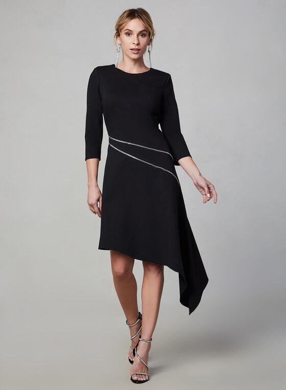 Vince Camuto - 3/4 Sleeve Asymmetric Dress, Black