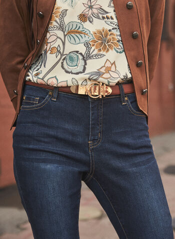 Round Metal Buckle Belt, Brown,  fall 2021, accessory, accessories, belt, buckle, metal, clasp, round, waist, tie, adjustable, leather, fabric