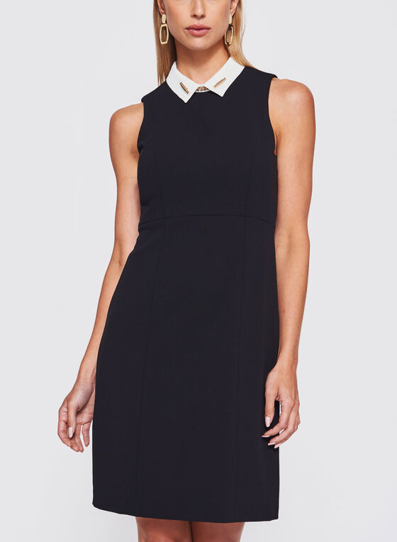 2f018d995 ... Ivanka Trump - Pointed Collar Trapeze Dress, Black, hi-res ...