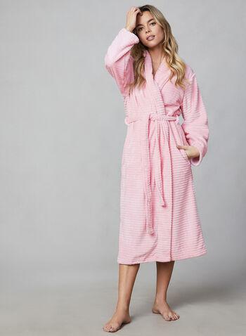 Hamilton - Robe de chambre en flanelle, Rose, hi-res,  robe de chambre, pyjama, flanelle, manches longues, ceinture, automne hiver 2019