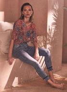Charlie B - Slim Leg Jeans, Blue