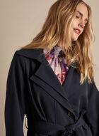 Novelti - Belted Trench Coat, Blue