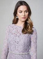 Sequin Lace Dress, Purple, hi-res