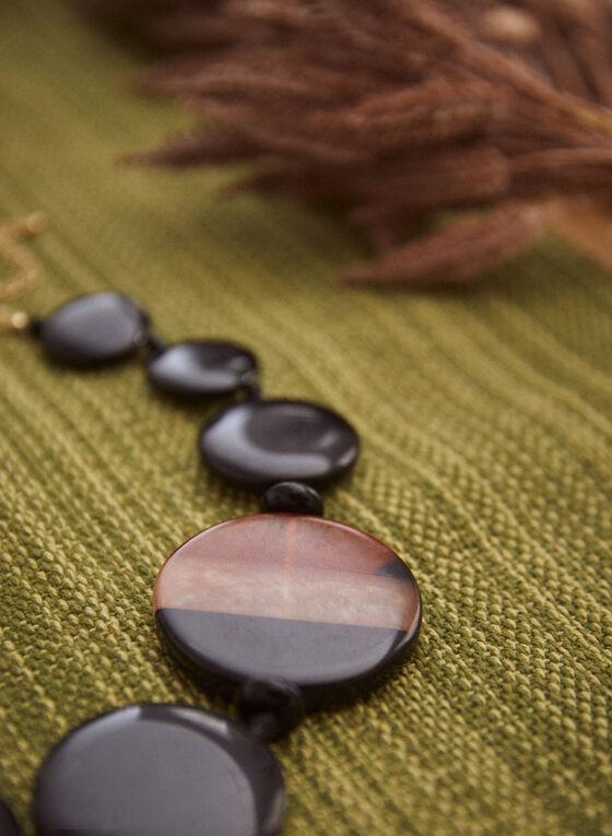 Large Disc Necklace, Black