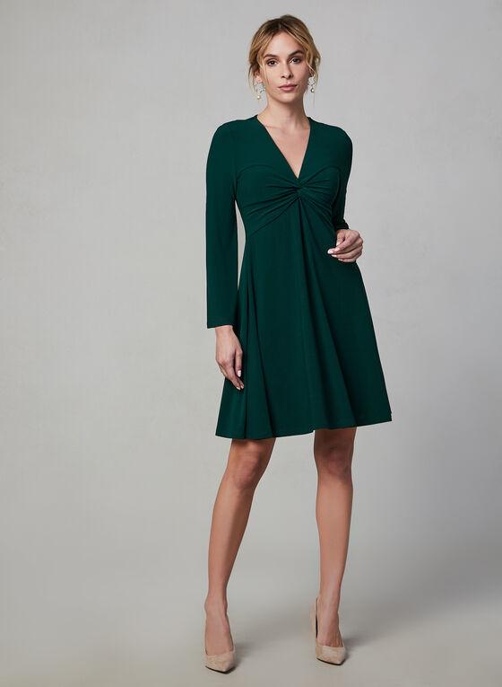 Maggy London - Robe à effet torsadé, Vert, hi-res