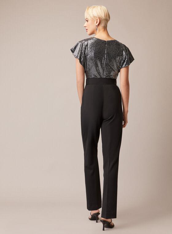 Joseph Ribkoff - Sequin Belted Jumpsuit, Black
