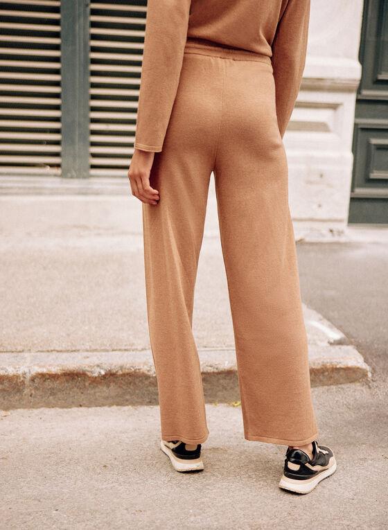 Knit Jogger Pants, Beige